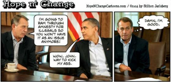 John Boehner and Obama