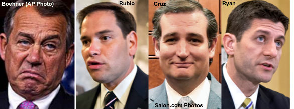Boehner, Rubio, Cruz and Ryan
