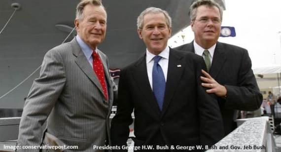 George HW Bush, George W Bush, Jeb Bush