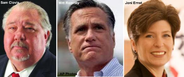 Clovis, Romney, Ernst