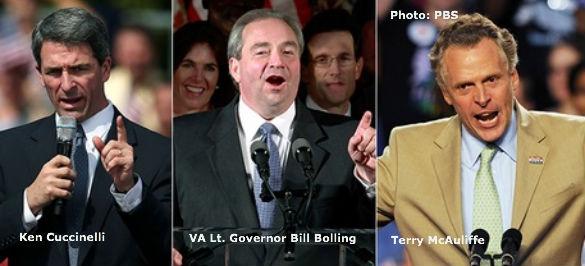 Ken Cuccinelli, Bill Bolling, Terry McAuliffe