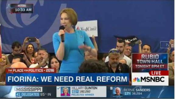 Carly Fiorina at Cruz for President rally