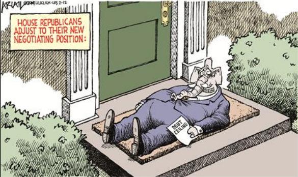 GOP Debt Cartoon