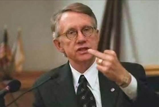 Harry Reid Flipping Bird