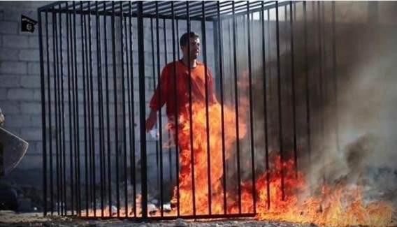 ISIS Burns Alive Jordanian Pilot