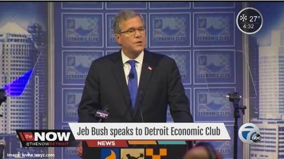 Jeb Bush Detroit Economic Club