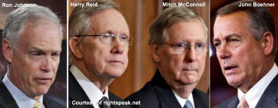 Johnson, Reid, McConnell, Boehner