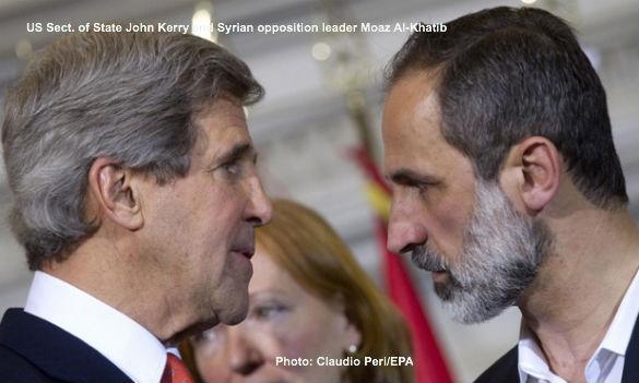 John Kerry and Moaz Al-Khalib
