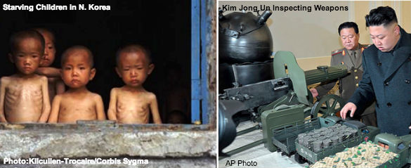 Kim Jung Un and N. Korean Starving Kids
