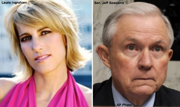 Laura Ingraham and Sen. Jeff Sessions