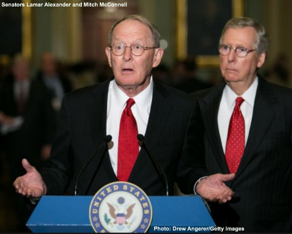 Lamar Alexander and Mitch McConnell
