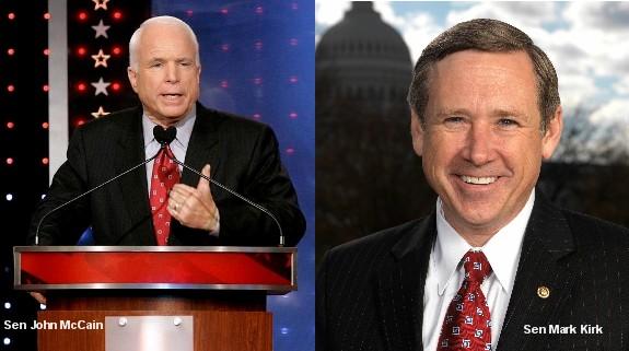 Senators John McCain and Mark Kirk