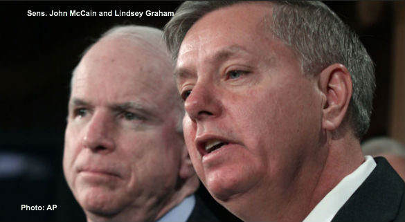John McCain and Lindsey Graham