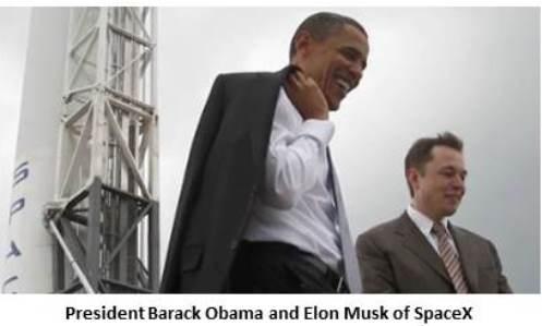President Barack Obama and Elon Musk