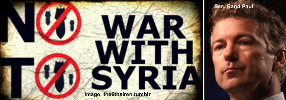 No War in Syria Rand Paul