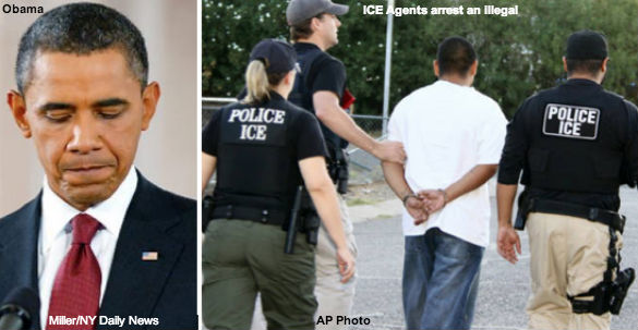 Obama and ICE Agents