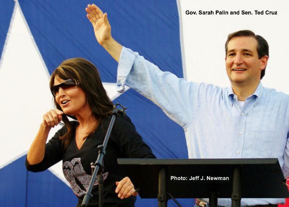 Sarah Palin and Ted Cruz