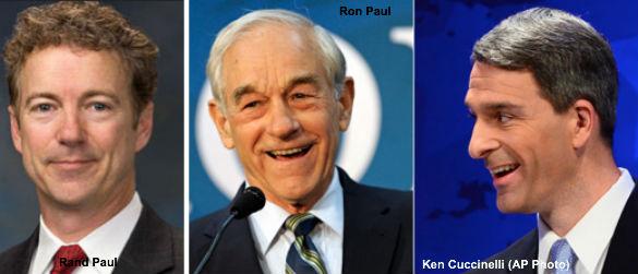 Rand Paul, Ron Paul, Ken Cuccinelli