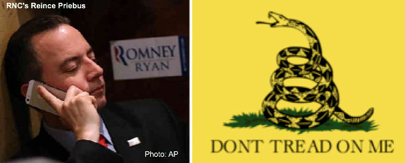 Reince Priebus and Don't Tread on Me Flag