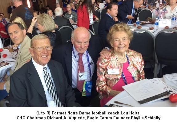 Lou Holtz, Richard A. Viguerie, Phyllis Schlafly