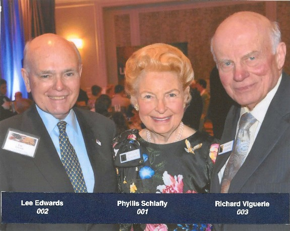 Dr Lee Edwards, Phyllis Schlafly, Richard A Viguerie