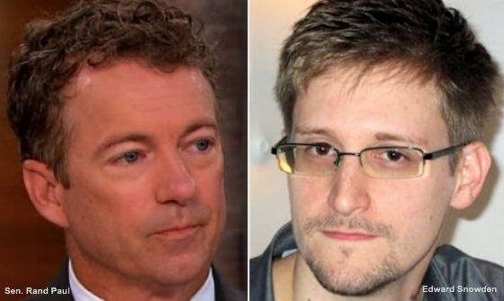 Rand Paul and Edward Snowden