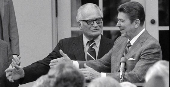 Ronald Reagan and Barry Goldwater