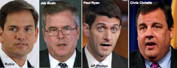Rubio, Bush, Ryan, Christie