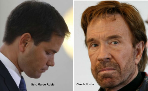 Marco Rubio and Chuck Norris