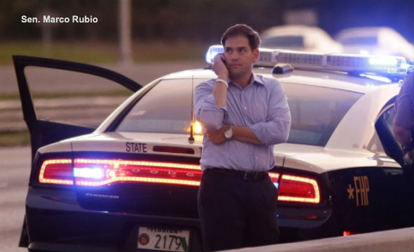 Marco Rubio and Police Car