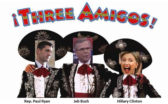 amnesty amigos Ryan, Bush and Clinton