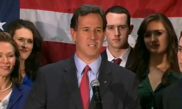 Santorum Exits