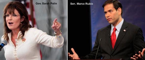 Sarah Palin and Marco Rubio
