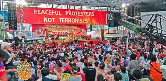 Thailand Red Shirt Democracy Protestors