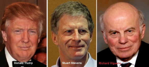 Donald Trump, Stuart Stevens, and Richard Viguerie