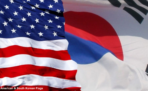 American and South Korean Flags