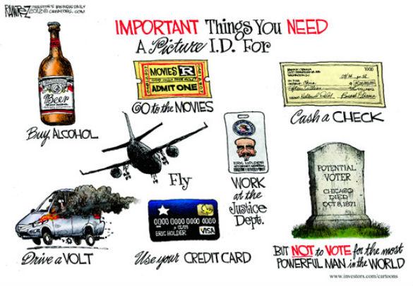 voter ID cartoon