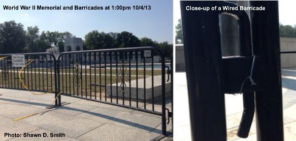 WWII Memorial Barricades
