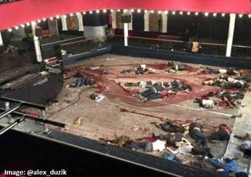 bodies of jihadi murder victims in Bataclan theater
