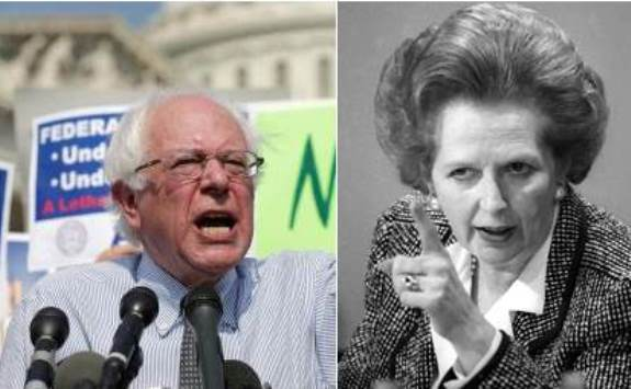 Bernie Sanders and Margaret Thatcher