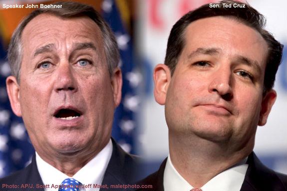 Boehner and Cruz