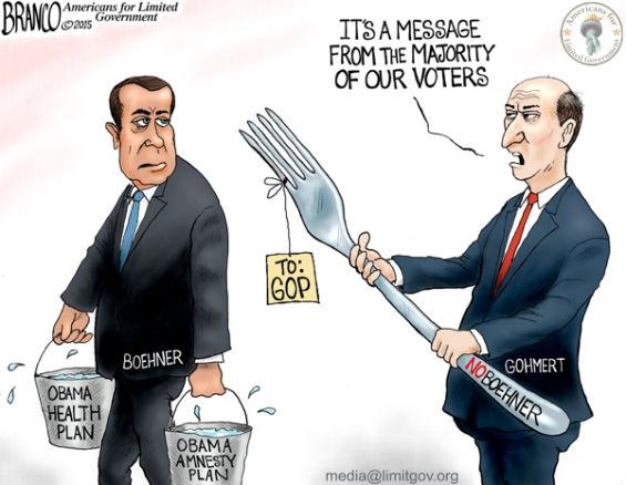 Boehner Gohmert Cartoon