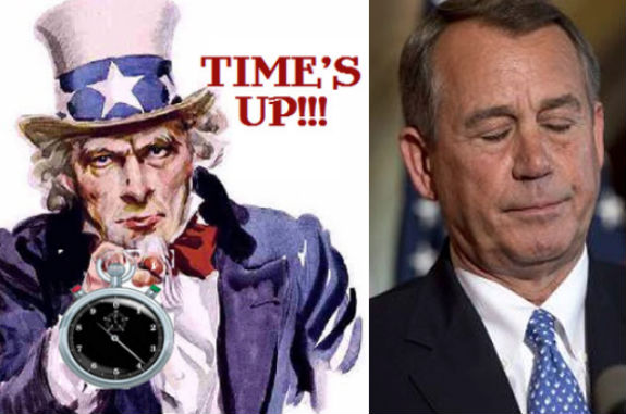 Time's Up for John Boehner