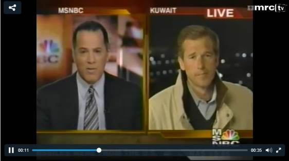 Brian Williams Reporting From Kuwait 2003