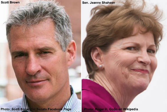 Scott Brown & Jeanne Shaheen