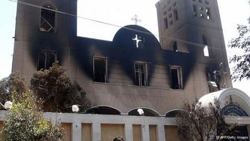 Church Burned In Middle East