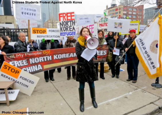 Chinese Protest North Korea