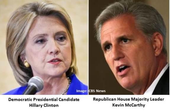 Hillary Clinton & Kevin McCarthy