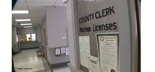 county clerk marriage license office
