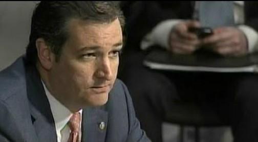 Senator Ted Cruz at Committee Hearing